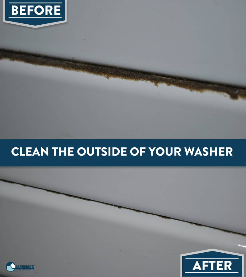 Clean the outside of your washer.