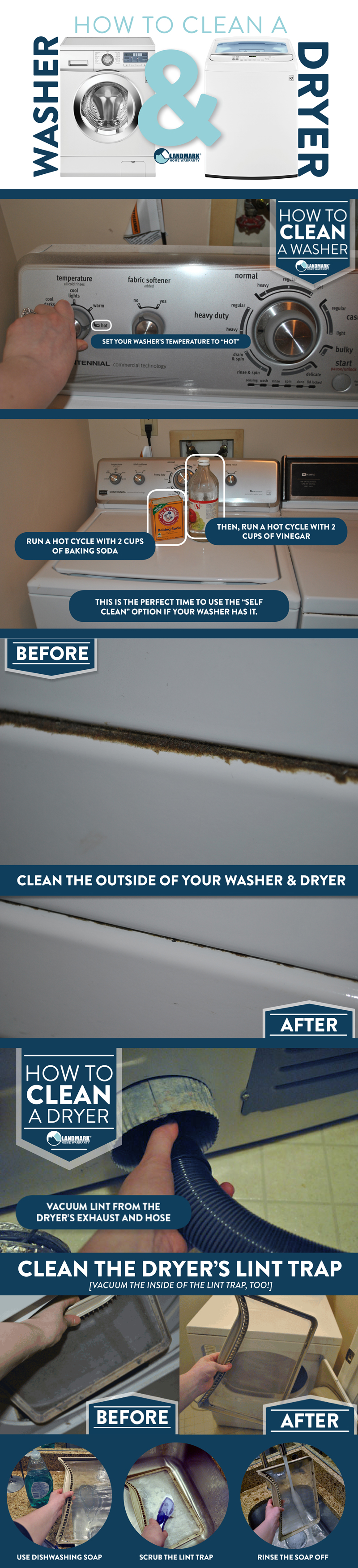 The full infographic on cleaning your washer and dryer.