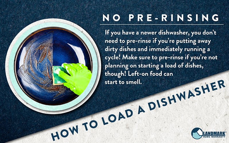 You don't have to pre-rinse your dishes before you put them in the dishwasher if you have a newer model.