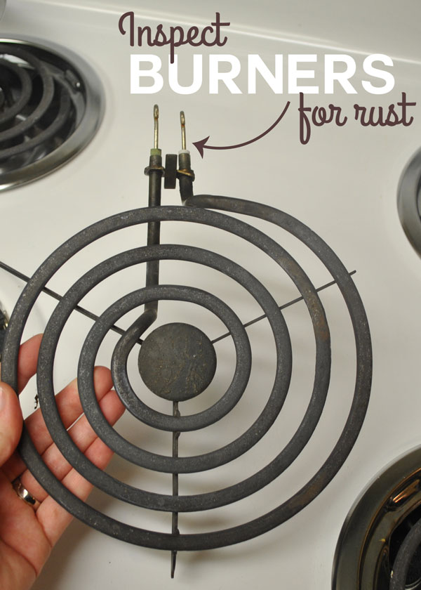 If your electrical oven's burners are working sporadically, you will need to inspect them for rust or corrosion.
