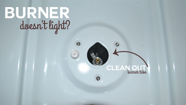 Is your burner not working correctly? If it's not lighting you may need to clean the burner's gas tube.