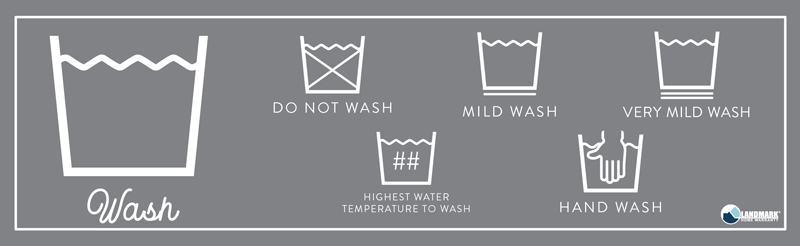 What the bucket and water symbol means on your laundry.