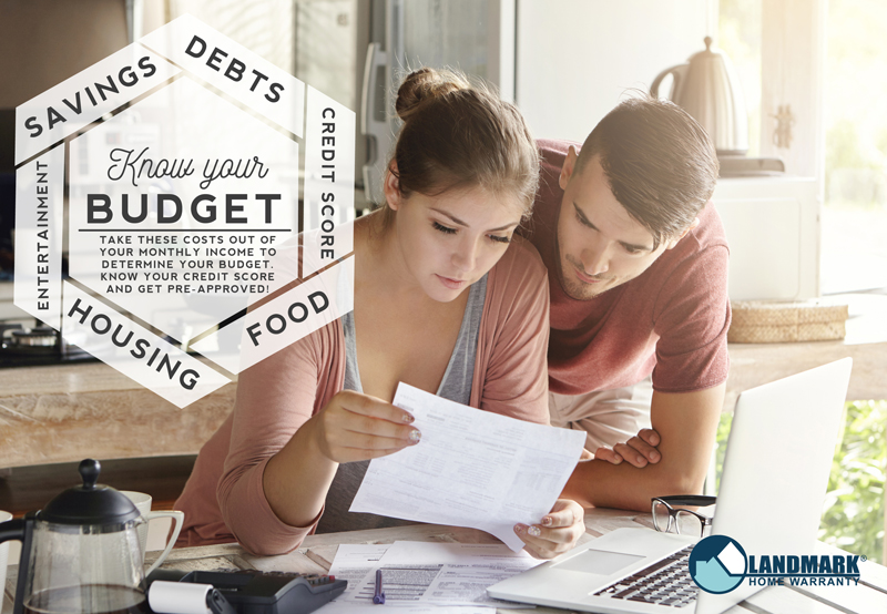 Determine what your budget is for buying a home.