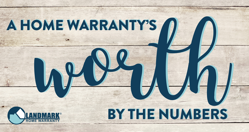 header image for the blog a home warranty's worth by the numbers