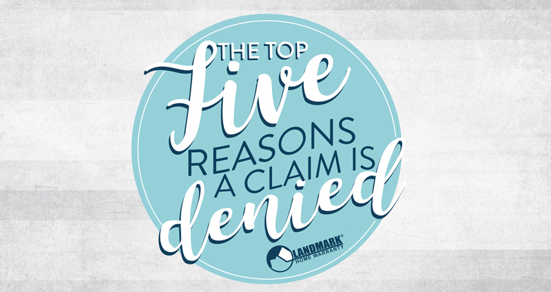 header image for the blog top 5 reasons why a claim is denied