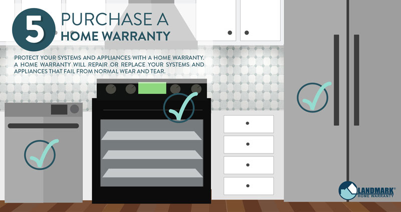 Purchase a home warranty after buying a home.