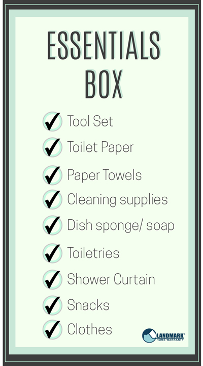 Use this downloadable checklist to figure out what to pack in an essentials box.