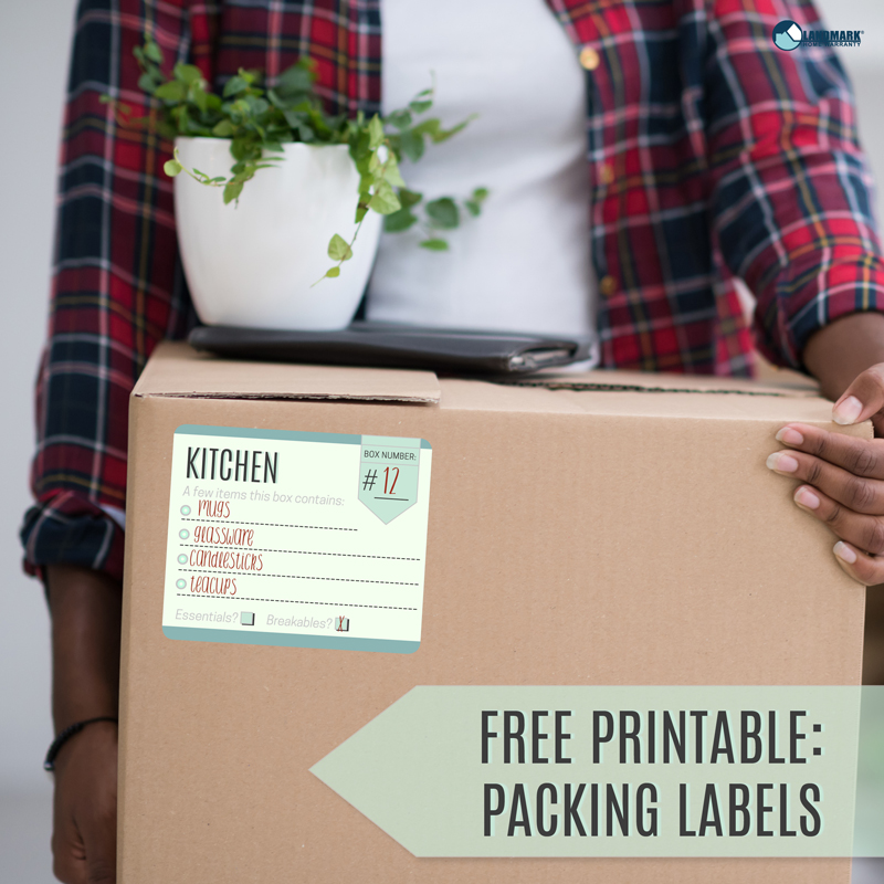 Download these free printable moving box labels and get organized for moving day!