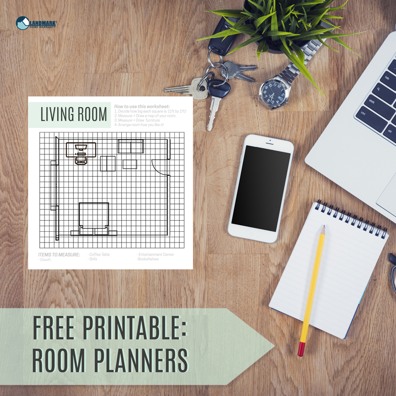 Get free printable room planners here to make moving day easier.