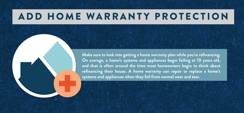 Get home warranty protection on your home when you refinance.