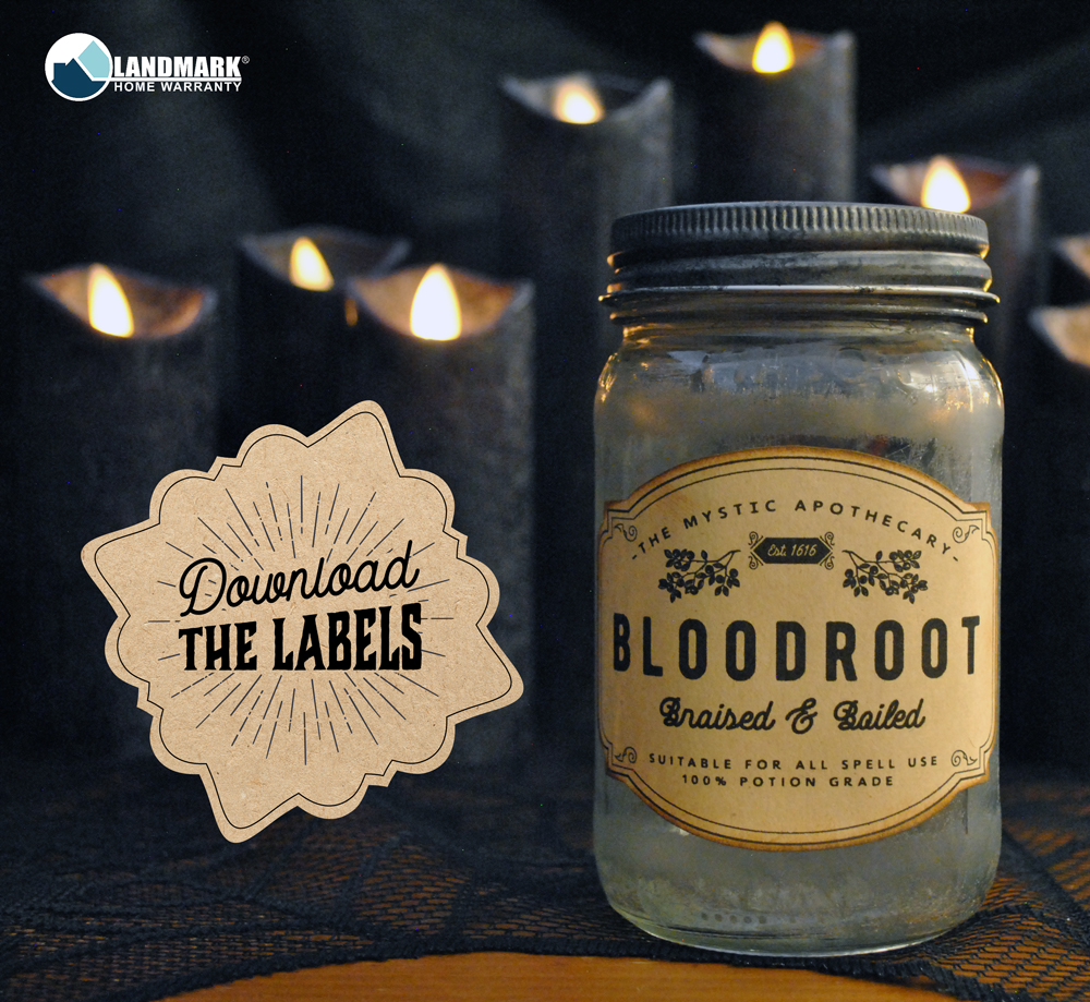 Download the Bloodroot Halloween potion bottle label here.