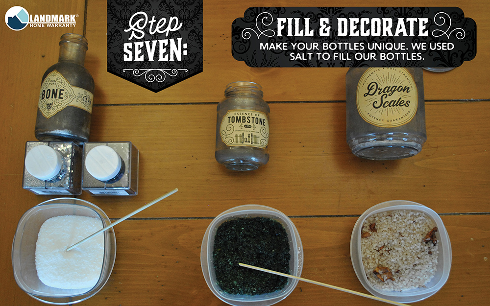 Fill and decorate your potion bottles.