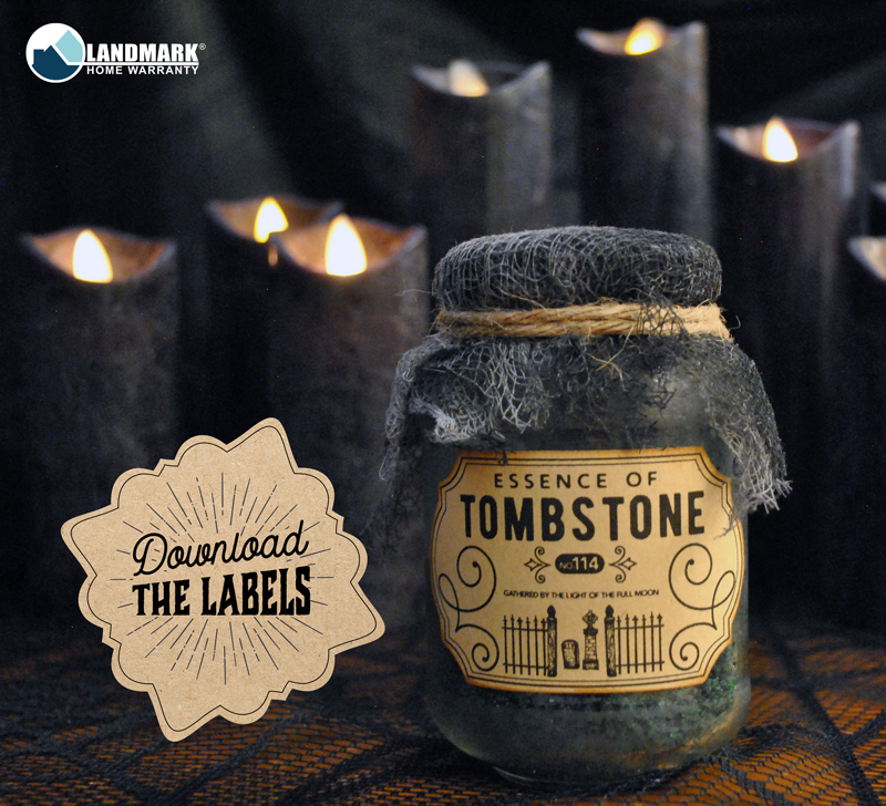 Download this label for your Halloween potion labels.