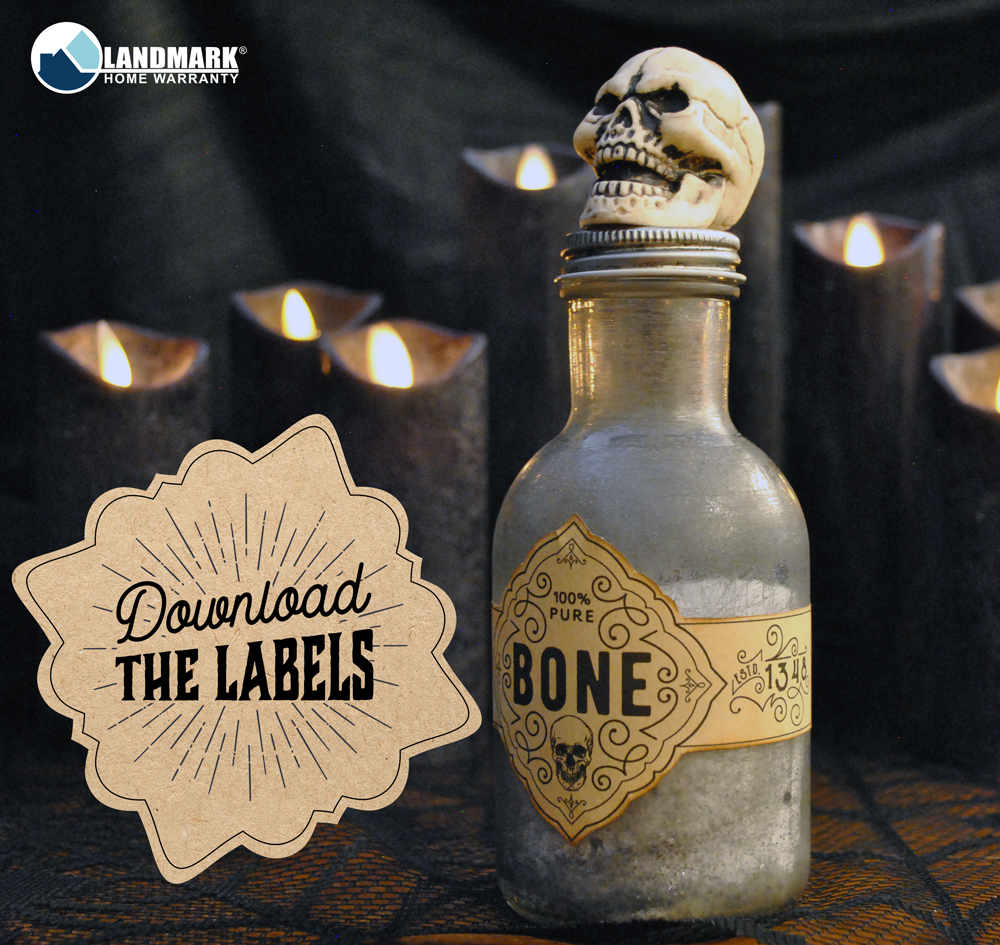 Download the Pure Bone Halloween potion bottle label here.