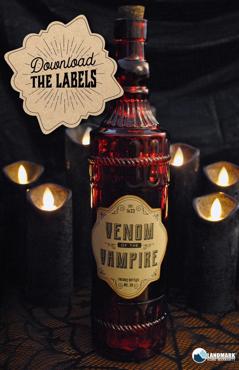 Click here to download the free printable venom of vampire label.