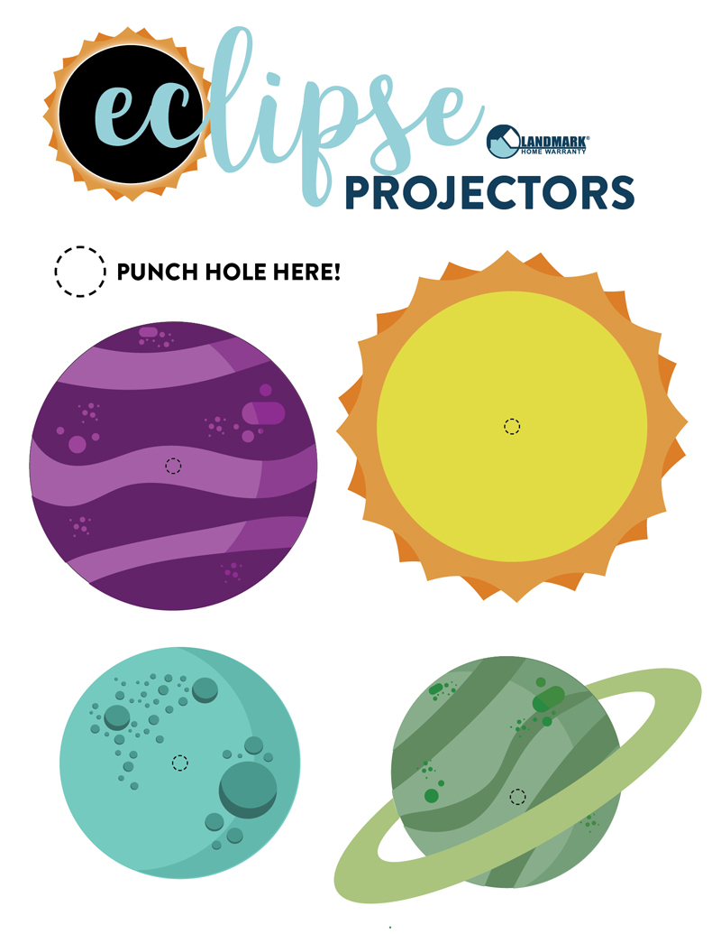 These projectors can help you watch the eclipse without hurting your eyes. Print them on cardstock.