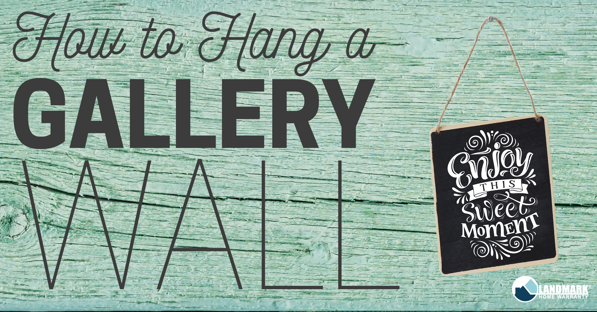 Hanging a gallery wall can be so easy using this tutorial!