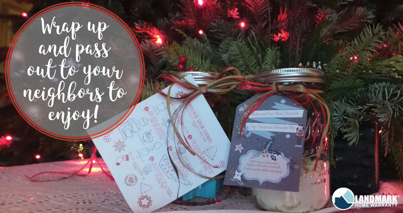 Once you have finished the mason jar gifts pass them out to your neighbors to enjoy!