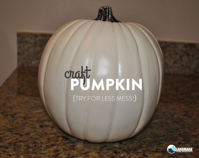 Try a craft pumpkin for a cleaner carve.