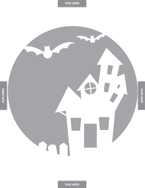 Haunted House pumpkin pattern.