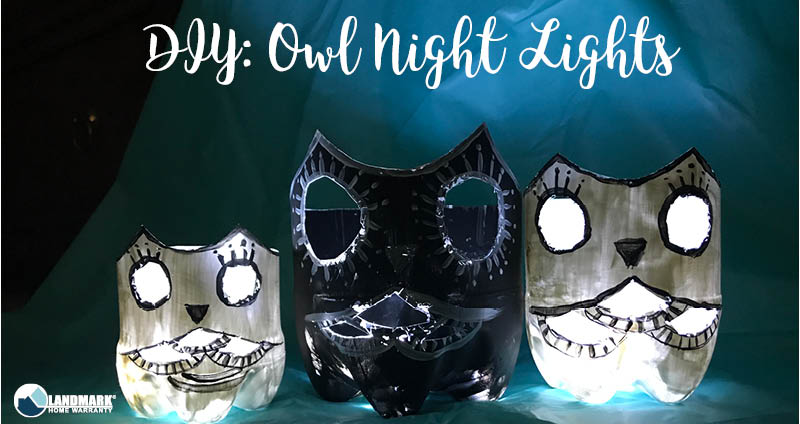 These DIY owl night lights are the perfect craft to do with your kids.