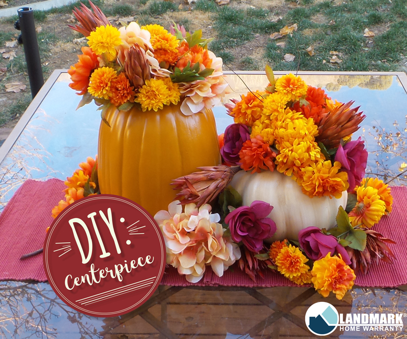 Make a centerpiece for your Thanksgiving table.