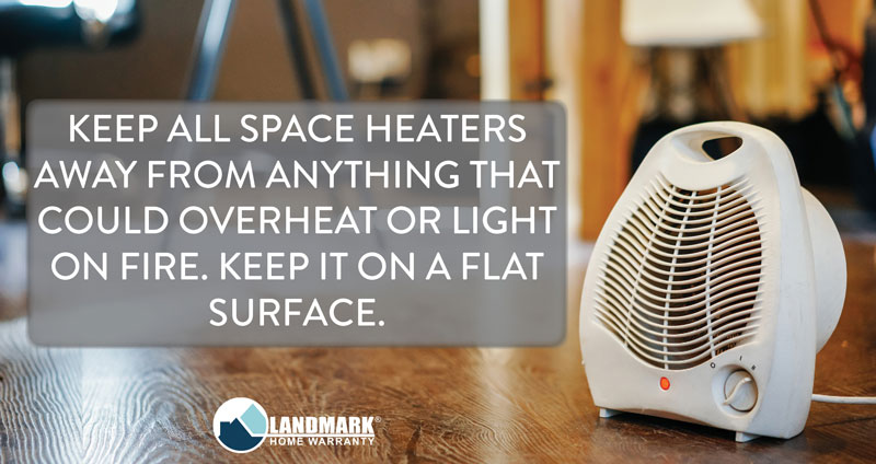 Space heaters require a high current in order to work properly so plug them into a wall outlet.