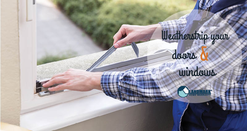 image explaining how to weatherstrip your doors and windows to keep the heat in