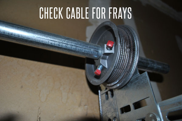 If your lift cable has any fraying, call a garage door specialist immediately.