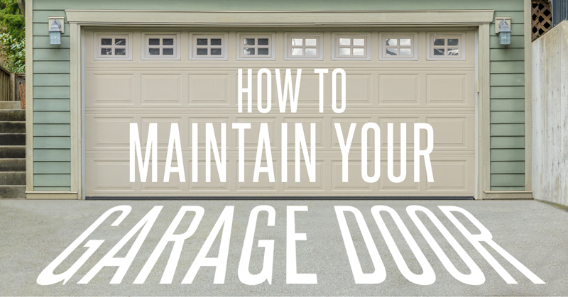 Learn how to maintain your garage door with these quick tips.