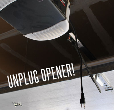 Make sure to unplug your garage door opener while you work on these tips.