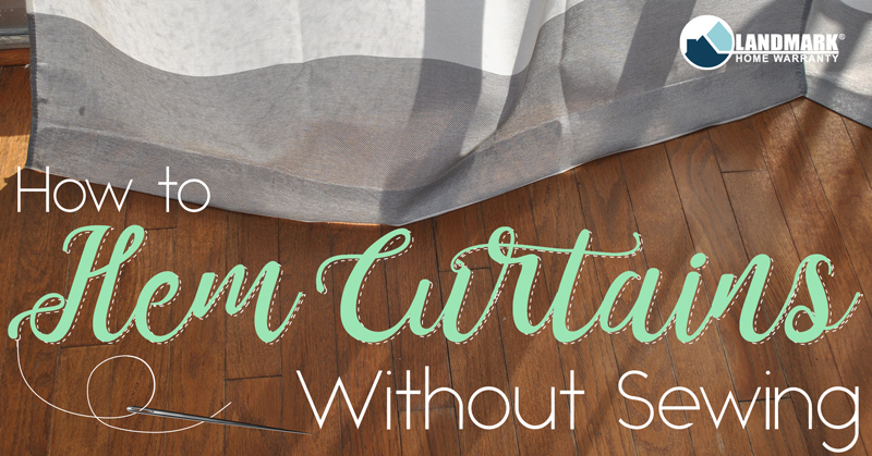 hem your curtains without sewing them with this easy diy project - How To Hem Curtains