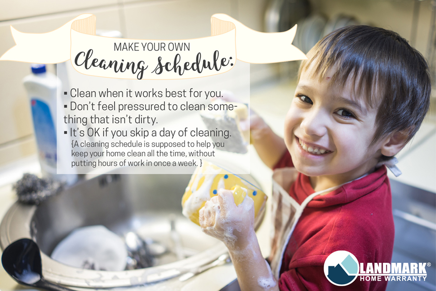 How to make your own cleaning schedule tips.