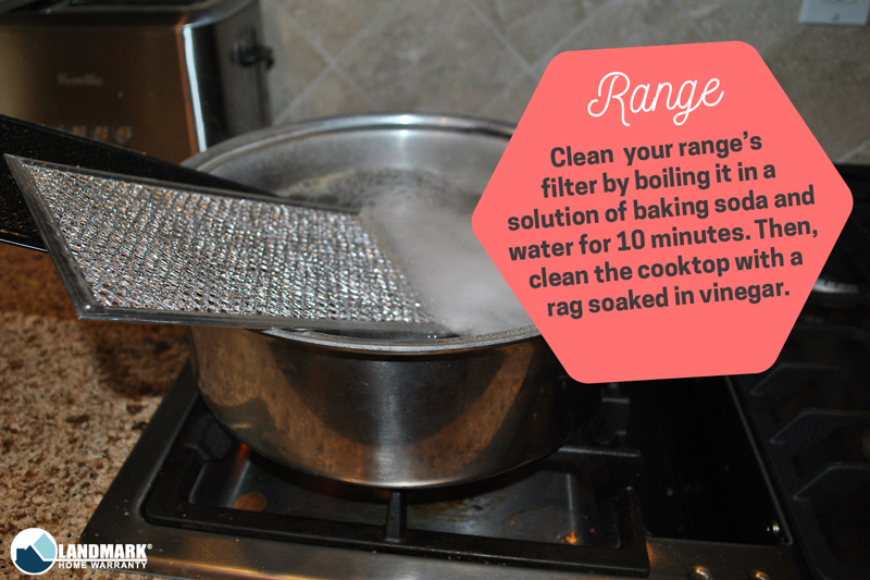 Clean your range with these quick spring cleaning tips.