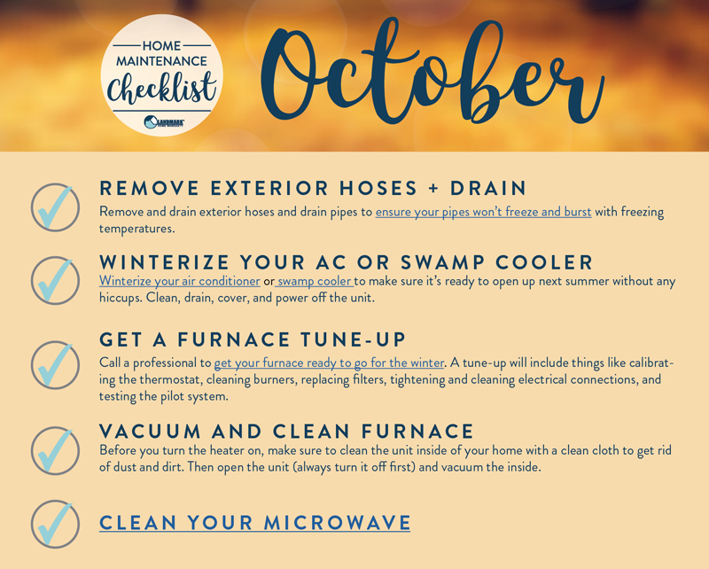 October home maintenance.