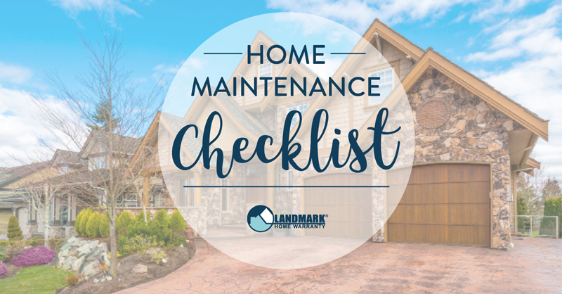 Maintain your home week by week.