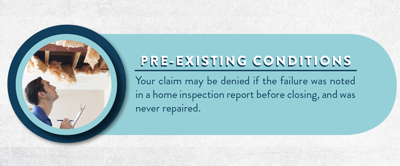 image explaining how a pre-existing condition can be a reason why your claim might be denied