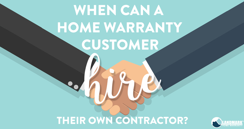 header image for when can a home waranty customer hire their own contractor.