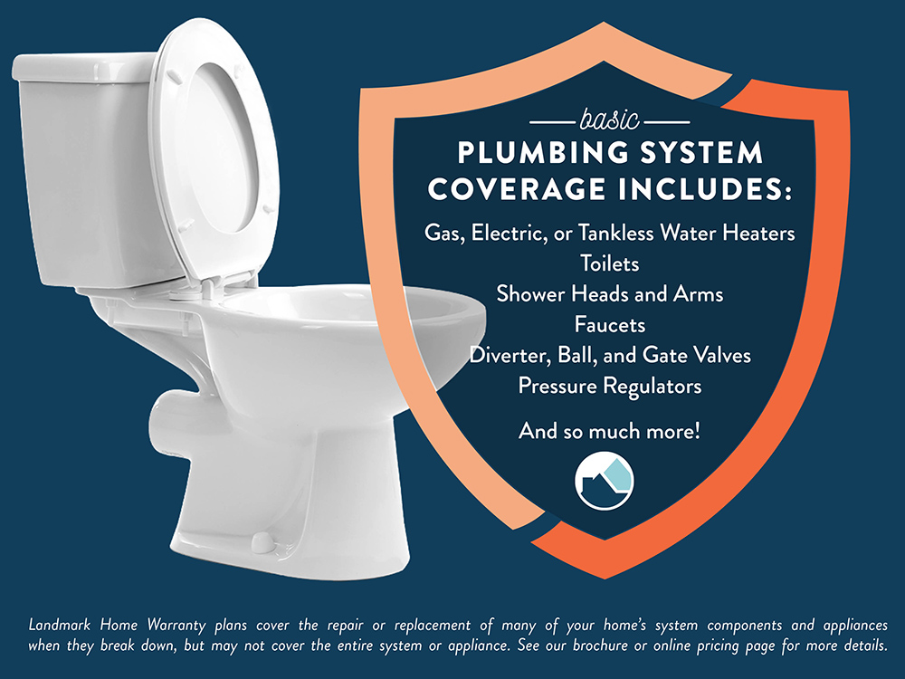 What is covered under home warranty plumbing plans.