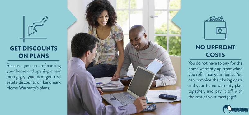 Get discounts on your home warranty when you refinance your mortgage.
