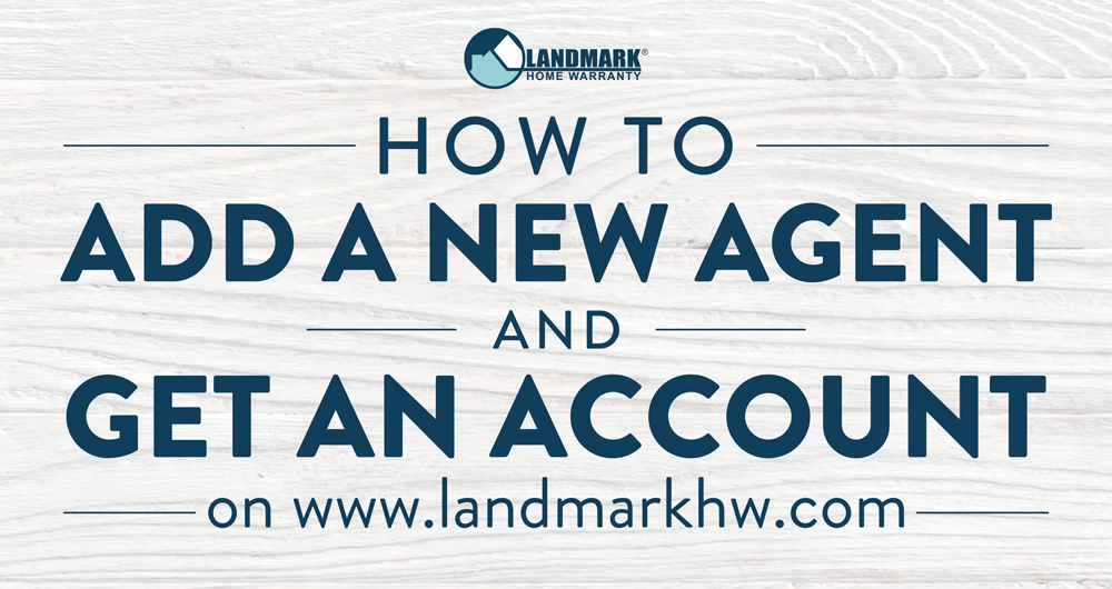 Learn how to add a new real estate agent to Landmark's website for easy ordering.