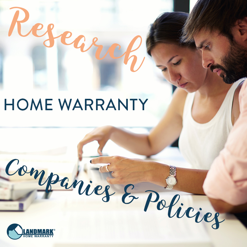 image explaining that you should research different home warranty companies and policies