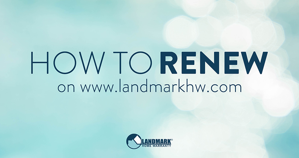 Learn how to renew your Landmark Home Warranty Plan online using this article and video walkthrough.