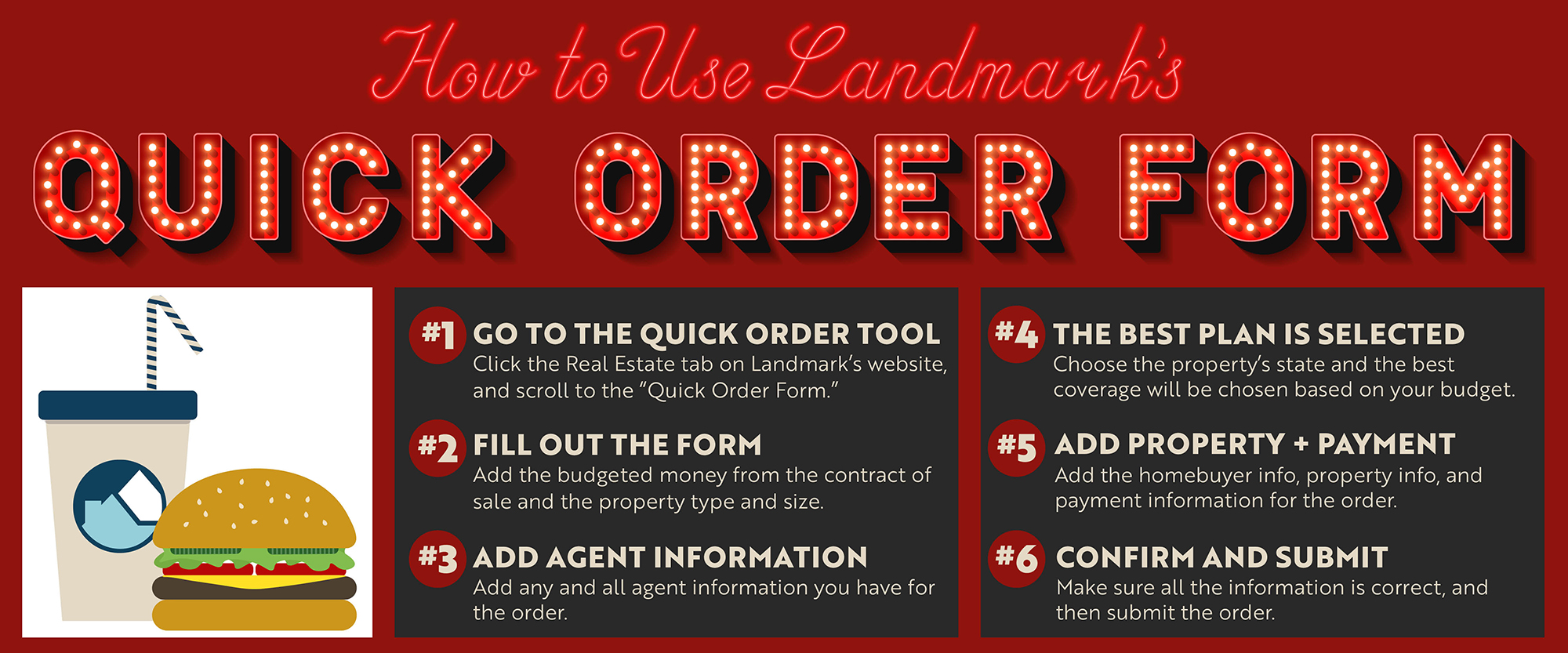 Diner version of how to use the quick order tool on Landmark's website.