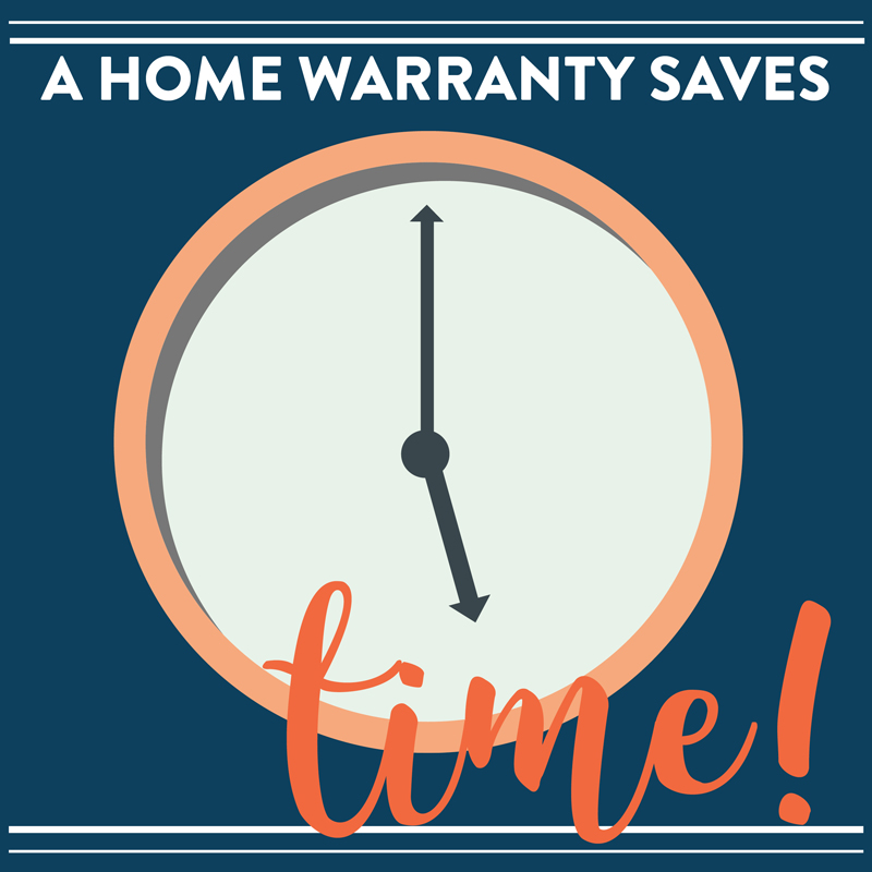 A home warranty plan saves homeowners time