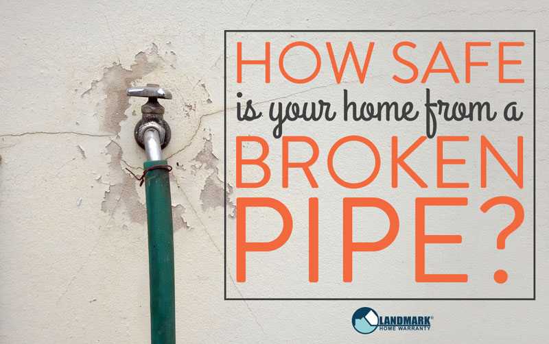 header image linking to the blog how safe is your home from a broken pipe