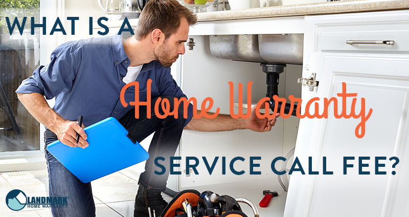 What is a service call fee for a home warranty company?