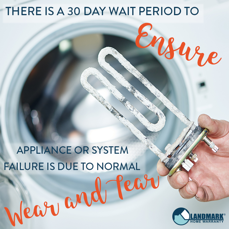 Image explaining why the 30-day wait period for a home warranty contract is in place
