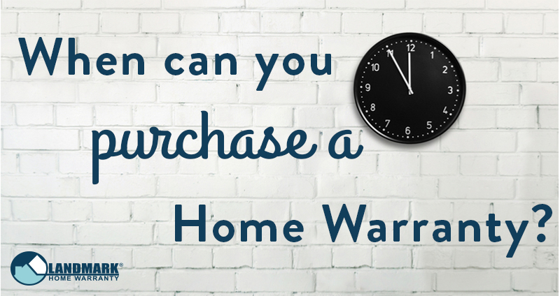 Header image for blog When Can you Purchase a Home Warranty.