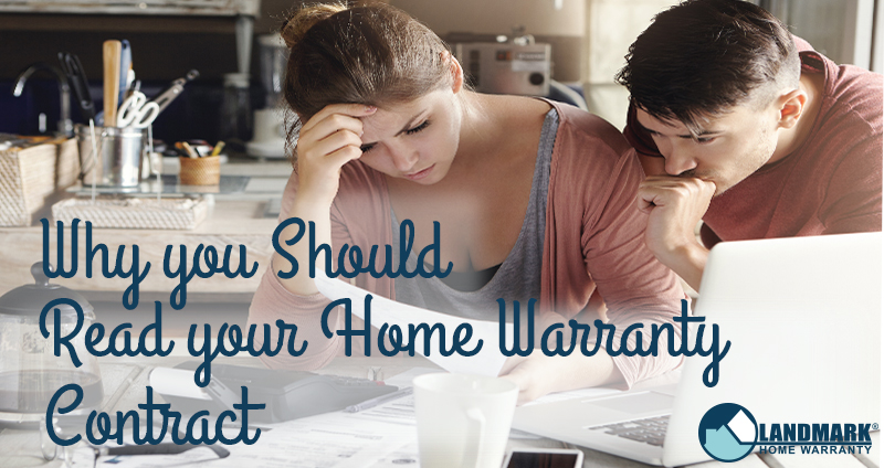 Header image for blog on why reading a home warranty contract is important.